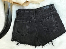 Load image into Gallery viewer, Black Denim Shorts with Netting
