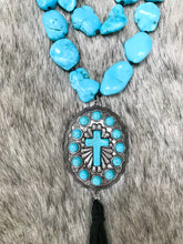 Load image into Gallery viewer, Turquoise Cross Necklace