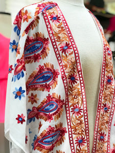 Paisley Embroidered Cardigan