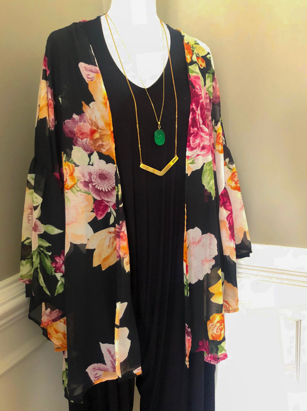 Sheer Floral Cape