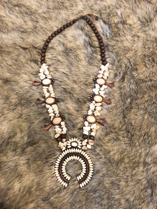 White Fossil Necklace