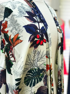 Multi Color Floral Cape