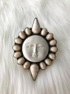 White Sun with Stone Accent Ring