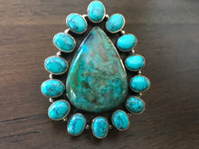 Load image into Gallery viewer, Pear Shaped Turquoise Ring