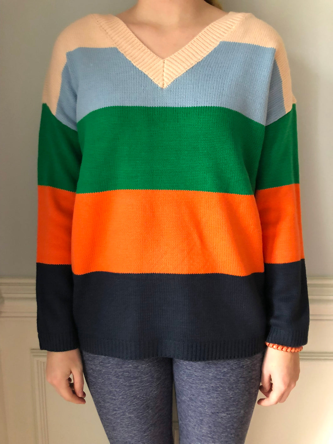 Striped Block Sweater