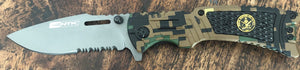 Green Digital Camo Knife