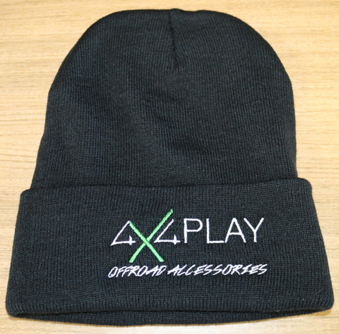 Beanie Black- 100% Wool Folded
