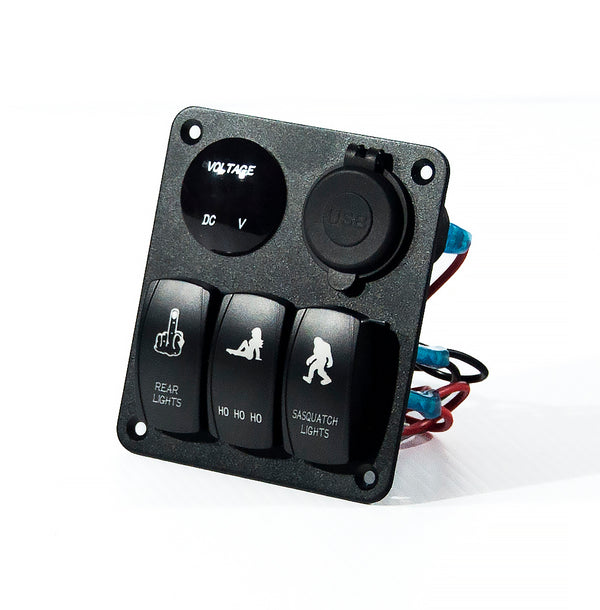 3 Board Rocker Switches and USB Input