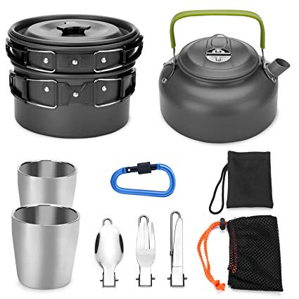 Camping Cookware Kit 10pc