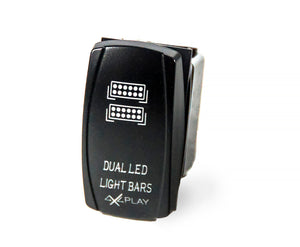 Dual LED Light Bars Rocker Switch