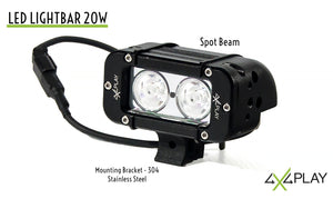 Single Row Spot Beam LED Lightbar 20W B4