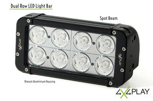 Dual Row LED Spot beam Lightbar 80W B7 4D