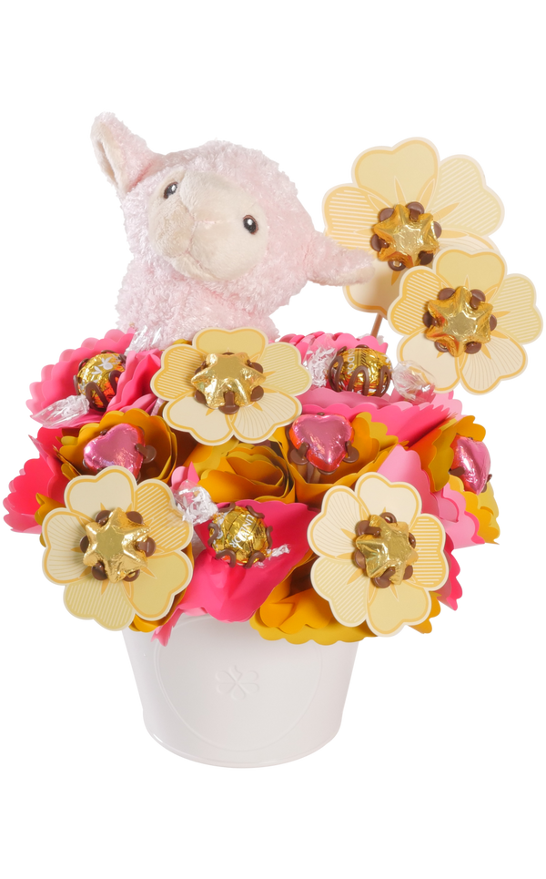 Choc Fields Chocolate Bouquet Pink Medium