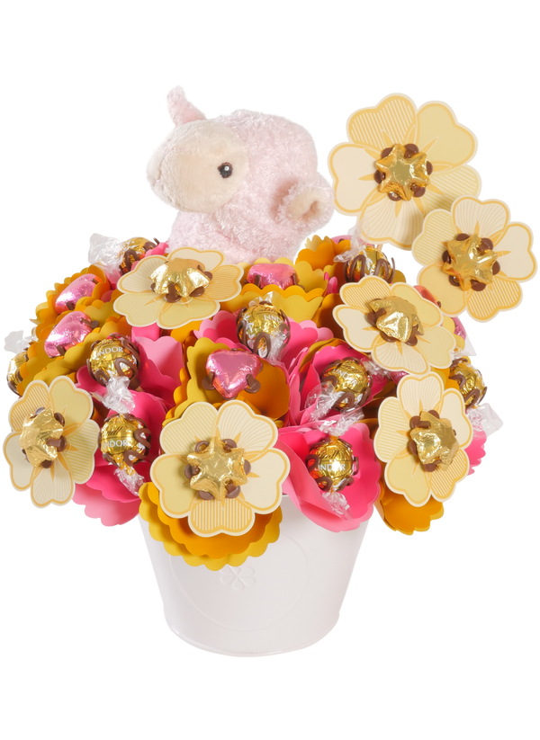 Choc Fields Chocolate Bouquet Pink Large