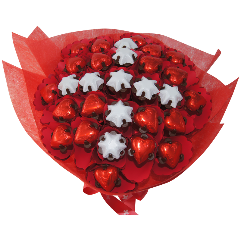 Swiss flag chocolate bouquet