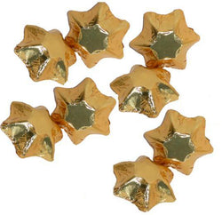 8 gold Swiss milk chocolate stars from our chocolatier