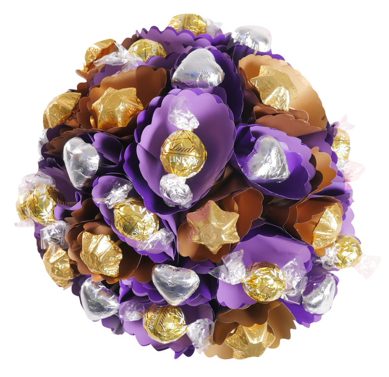 Copper Violet Chocolate Bouquet