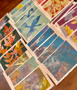 Impressionist Hand Printed Notecard Set (5 cards)