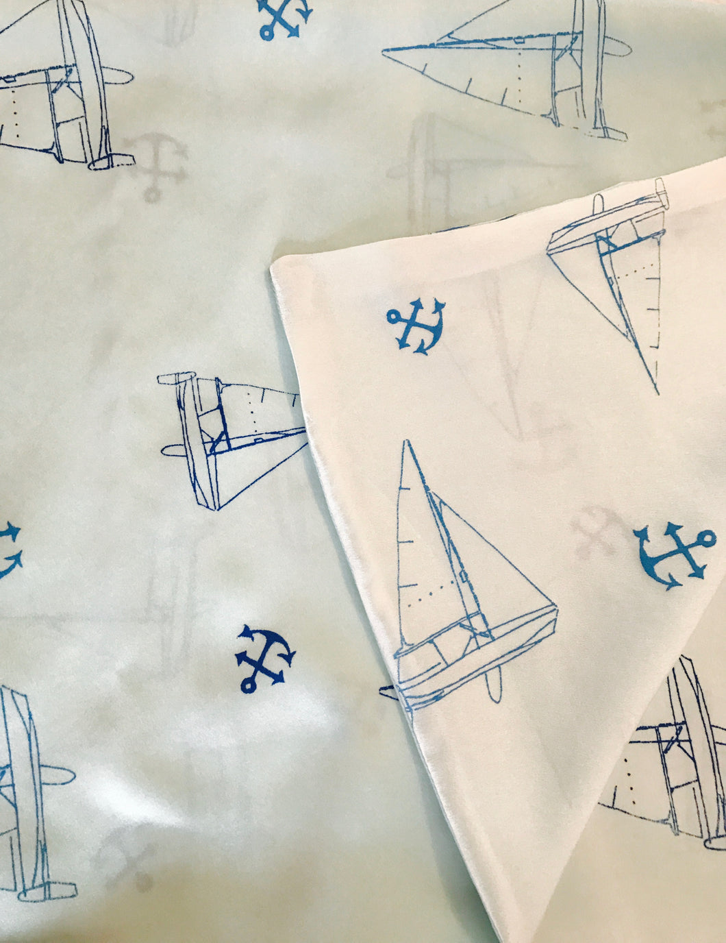 Sailboats and Anchors Baby Blanket