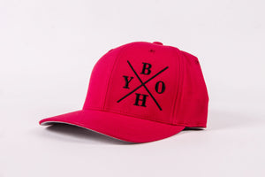 Red X Frame Hat