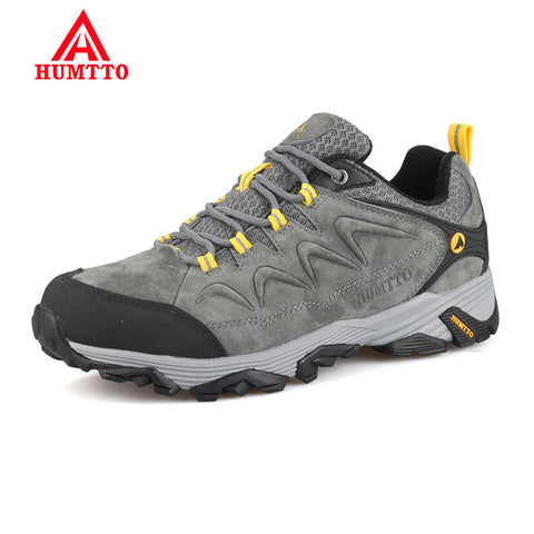 c4b7b5fa18726 Promotion Winter Genuine Leather Hiking Shoes Lightwei Outdoor Trekking  Boots Lace-up Climbing Mens Sneakers