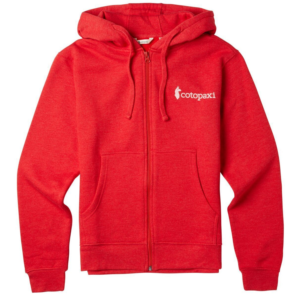 Logo Full-Zip Hoodie - Women's, Racing Red, Front