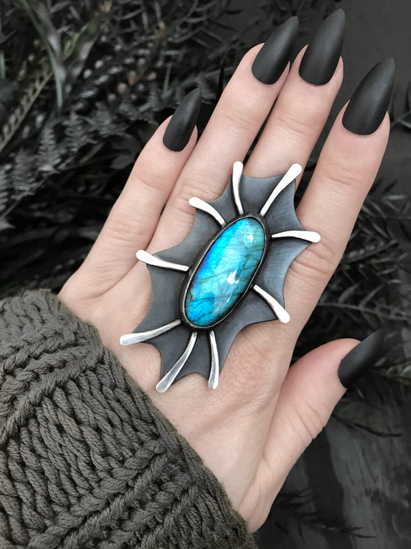 Labradorite Creature Ring