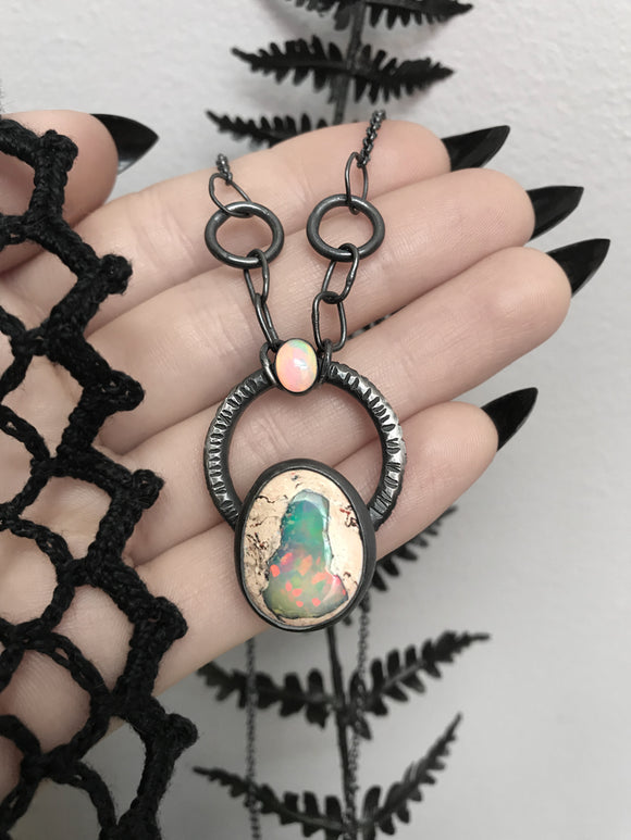 Mexican Galaxy Opal Necklace