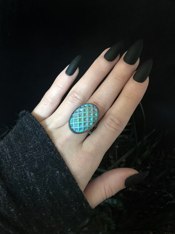 Blue Pineapple Ring