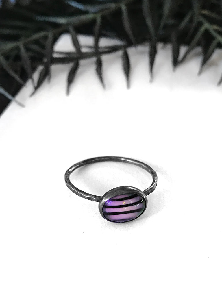 Zebra Stripe Ring (in Pink or Blue)