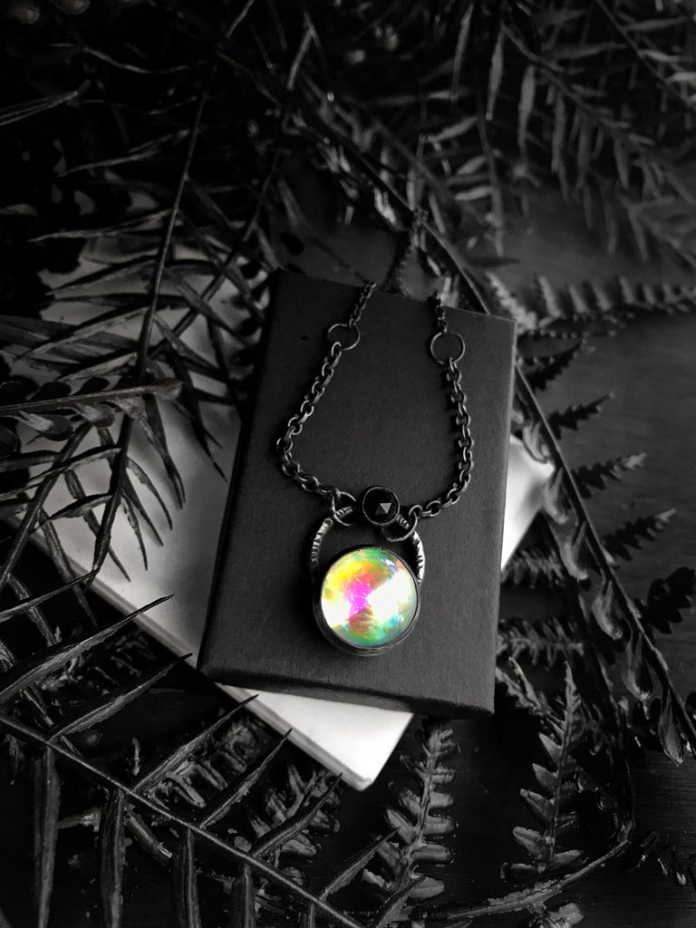 Vintage Glass Supernova Necklace