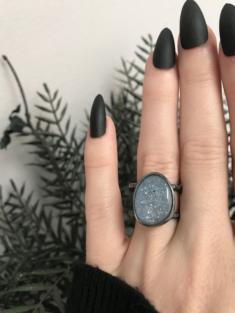 Druzy Orbit Ring