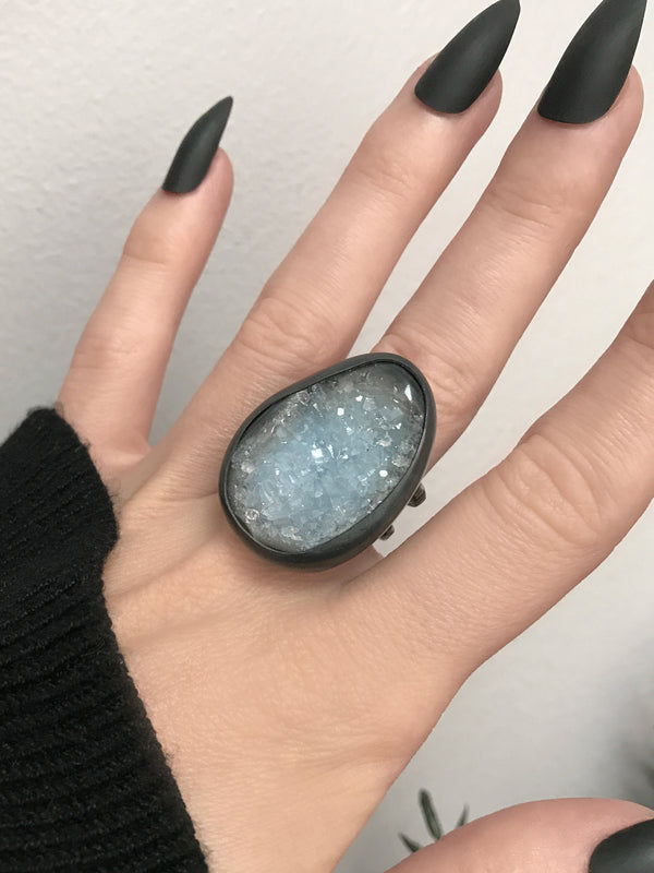 Statement Druzy Crystal Ring