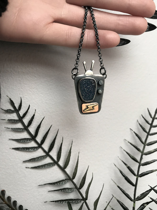Vertical Television Necklace