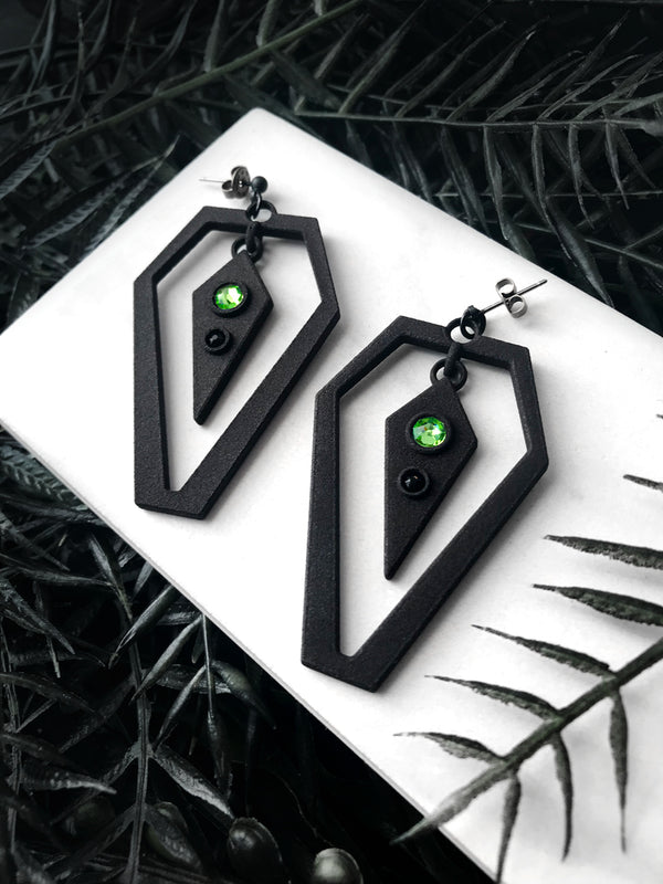 Black-Out Coffin Earrings - 4 Pairs Available