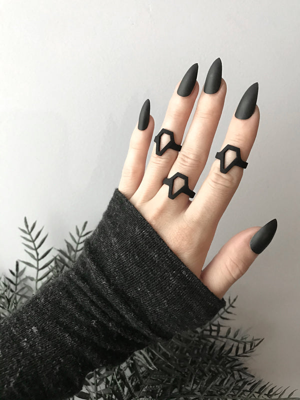 Black-Out Crypt Rings - Available in sizes 3-12