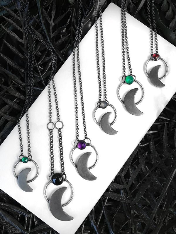 Dainty Crescent Moon Pendants (1 left)