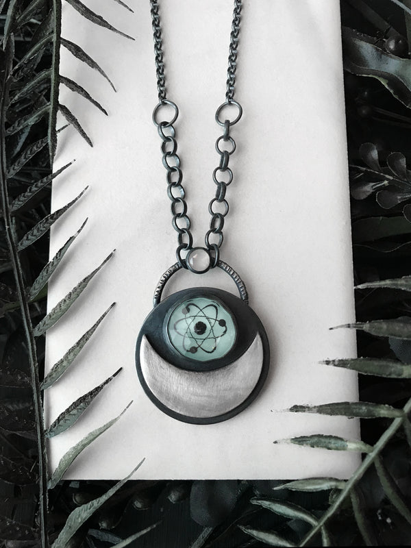 Glowing Atomic Moon Necklace
