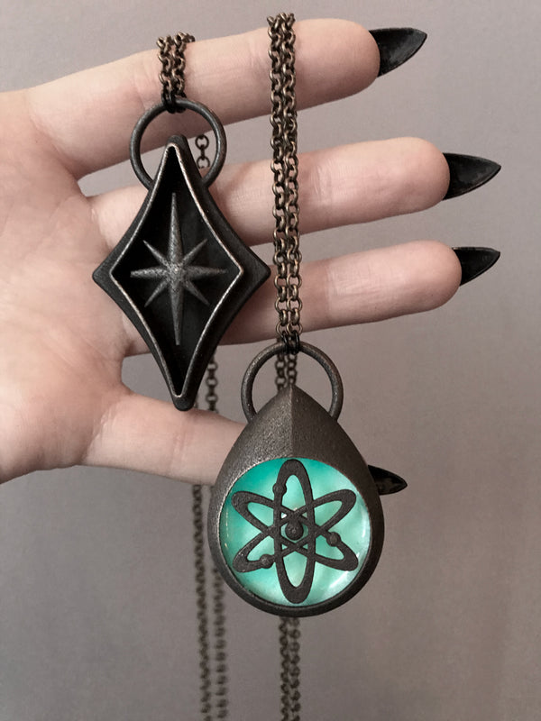 Atomic Bronze Pendants (2 Available)