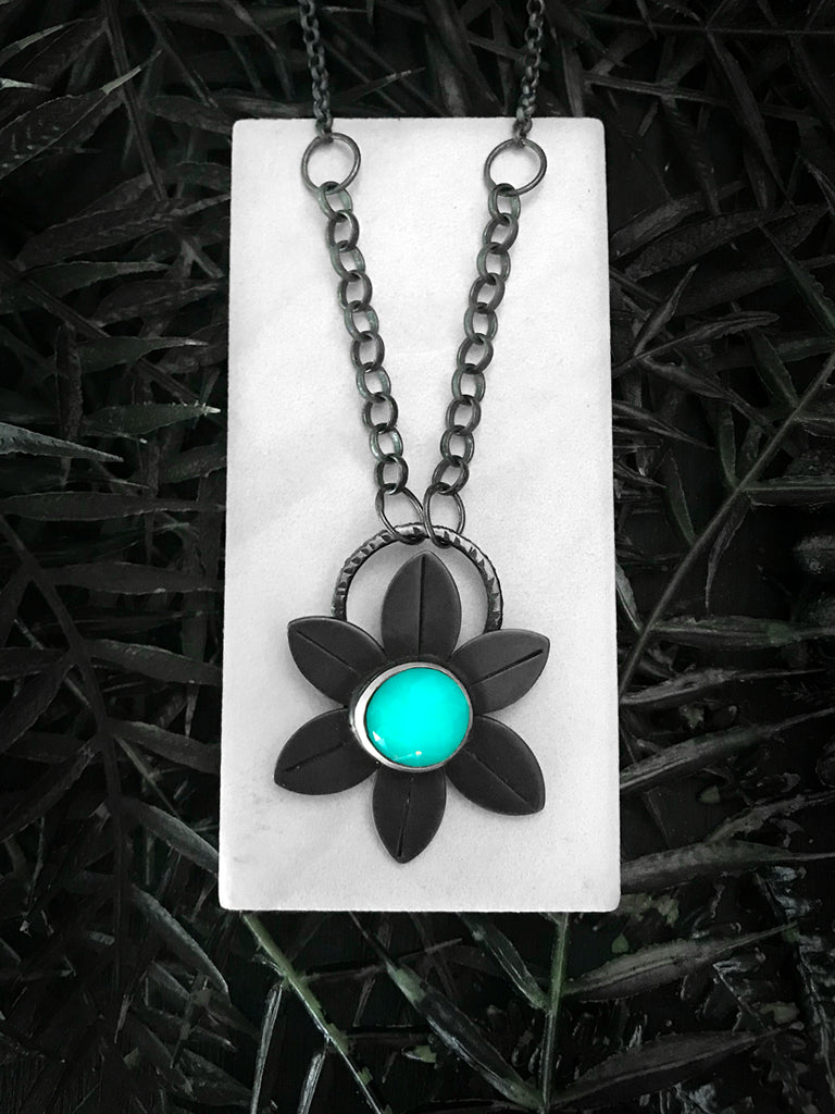 Bronze Space Daisy Pendant