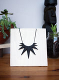 Black Spike Necklace. Geometric Starburst Jewelry. 3d printed. $52