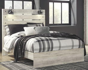 Cambeck - Whitewash -  Panel Bed