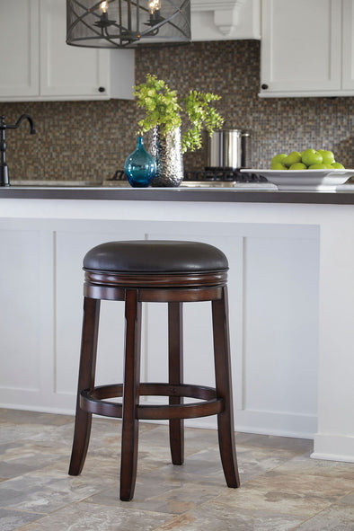 Porter - Rustic Brown - Tall UPH Swivel Stool (2/CN)