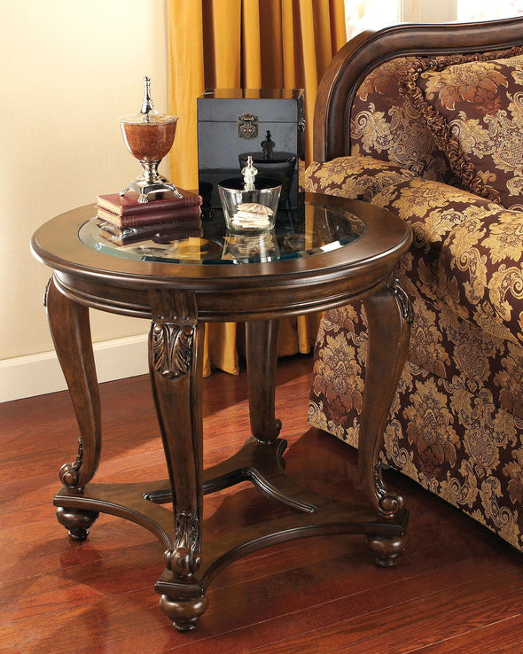 Norcastle - Dark Brown - Round End Table