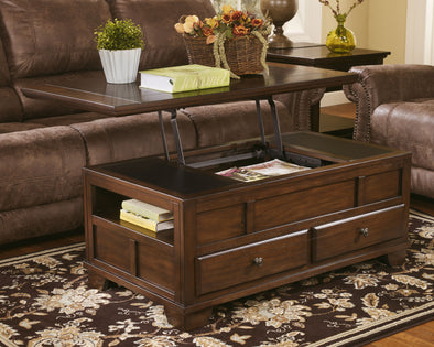 Gately - Medium Brown - Lift Top Cocktail Table
