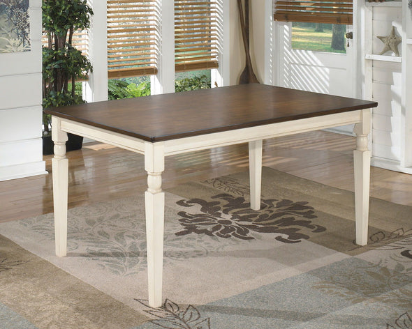 Whitesburg - Brown/Cottage White - Rectangular Dining Room Table