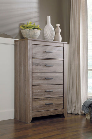 Zelen - Warm Gray - Five Drawer Chest