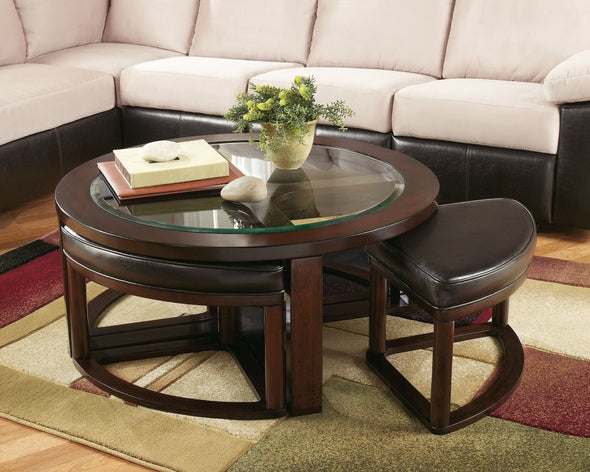 Marion - Dark Brown - Cocktail TBL w/4 Stools (5/CN)