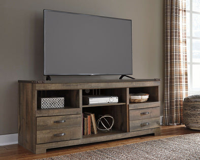 Trinell - Brown - LG TV Stand w/Fireplace Option