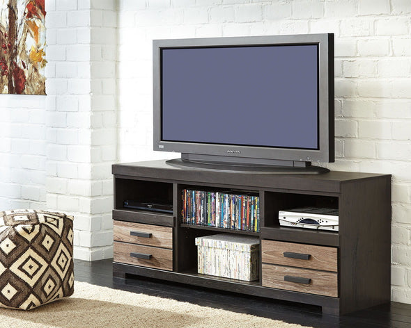 Harlinton - Warm Gray - LG TV Stand w/Fireplace Option